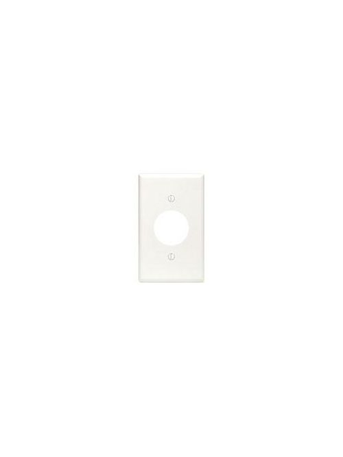 LEVITON 88004 1GANG WHITE SINGLERECEPTACLE WALLPLATE 1.406-IN HOLE