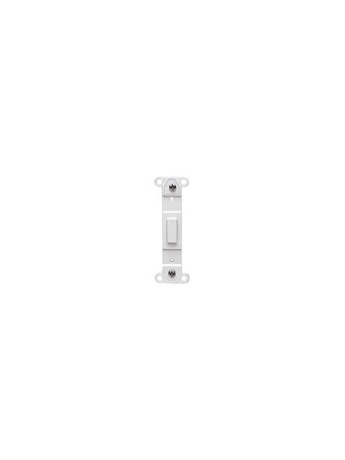 Leviton 80700-I Ivory Nylon No Hole Blank Toggle Wallplate Adapter