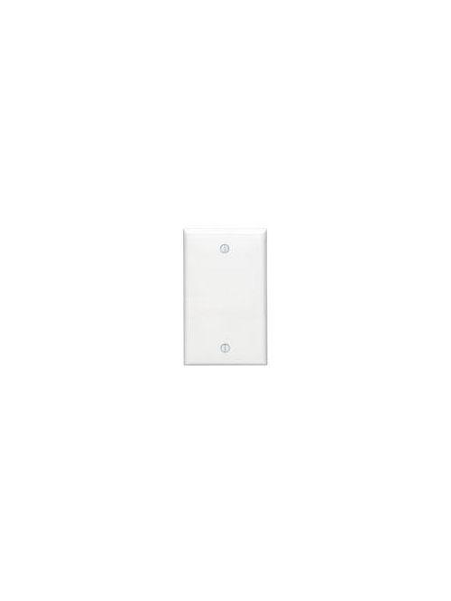 Leviton 80714-E 2.75 x 0.22 x 4.5 Inch 1-Gang Smooth Black Thermoplastic Nylon Box Mount Standard Blank Wallplate