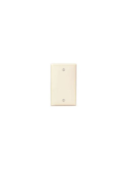 1-Gang No Device Blank Wallplate, Standard Size, Thermoplastic Nylon, Box Mount, - Ivory