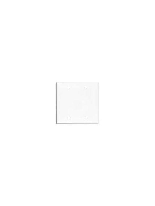 Leviton 80725-I 4.56 x 0.22 x 4.5 Inch 2-Gang Smooth Ivory Thermoplastic Nylon Box Mount Standard Blank Wallplate