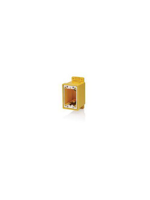 Leviton FDBX1-Y 26 In 1-Gang Yellow PVC FD Device Box