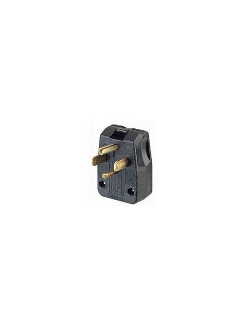 Leviton 275-T 125/250 Volt 30/50 Amp 3-Pole 4-Wire NEMA 14-30P/14-50P Black Thermoplastic Angled Polarized Straight Blade Plug