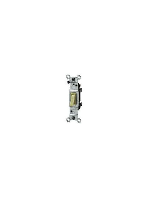 Leviton 1451-2I 120 VAC 15 Amp 1-Pole 1/2 Hp Ivory Thermoplastic Grounding Framed Toggle Quiet Switch