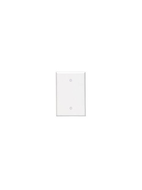 Leviton 86114 3.5 x 0.255 x 5.25 Inch 1-Gang Smooth Ivory Thermoset Box Mount Oversize Blank Wallplate
