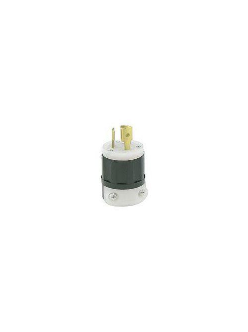 Leviton 4720-C 125 Volt 15 Amp 2-Pole 3-Wire NEMA L5-15P 1/2 Hp Black/White Nylon Grounding Locking Plug