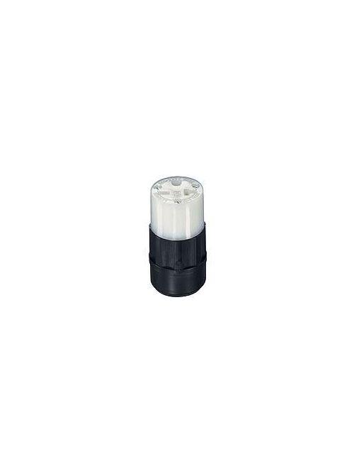 Leviton 5469-C 250 Volt 20 Amp 2-Pole 3-Wire NEMA 6-20R Black/White Nylon Grounding Straight Blade Connector