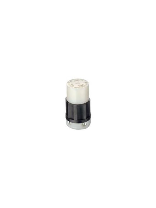 Leviton 2613 125 Volt 30 Amp 2-Pole 3-Wire NEMA L5-30R 2 Hp Black/White Nylon Grounding Locking Connector