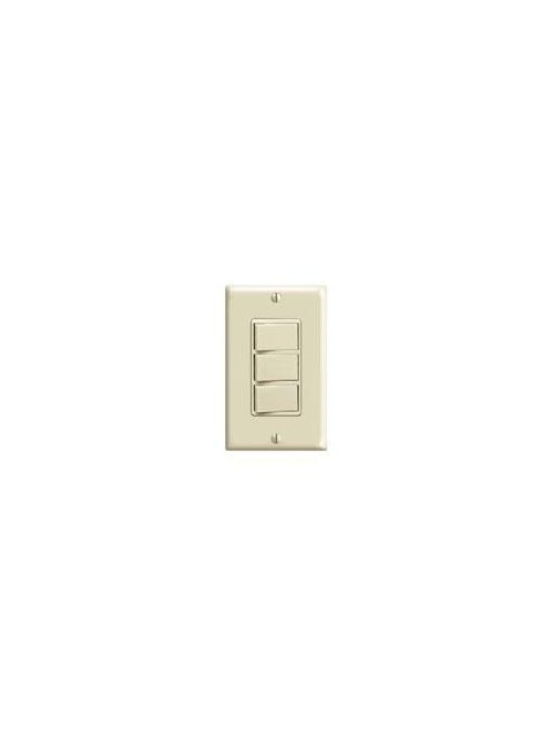 Leviton 1755-I 120 Volt 15 Amp 1-Pole Ivory Thermoplastic Non-Grounding Triple Rocker Decorator Combination Switch
