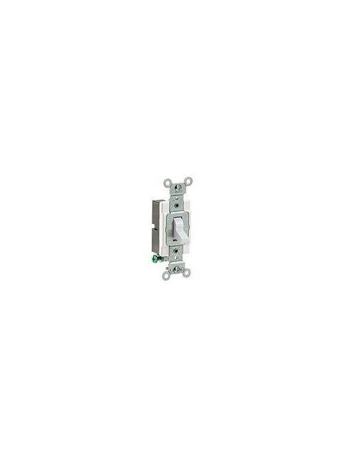 Leviton CS120-2W 120/277 VAC 20 Amp 1-Pole 2 Hp White Thermoplastic Grounding Toggle Quiet Switch