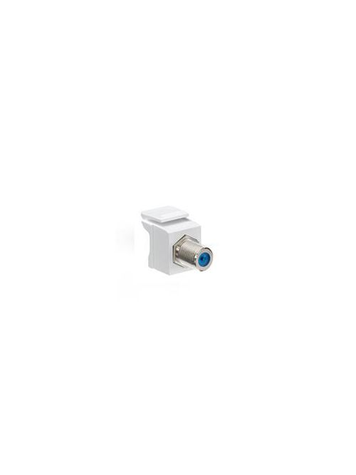 Feedthrough QuickPort F-Connector, Nickel Plated, Brown Housing