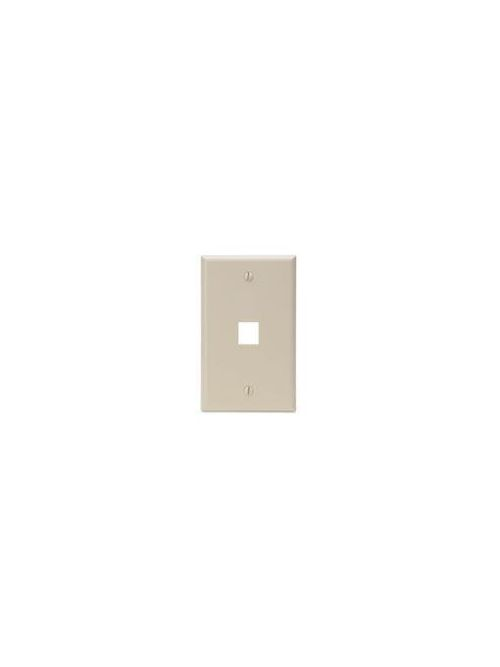 Single-Gang QuickPort Wallplate, 1-Port, Ivory