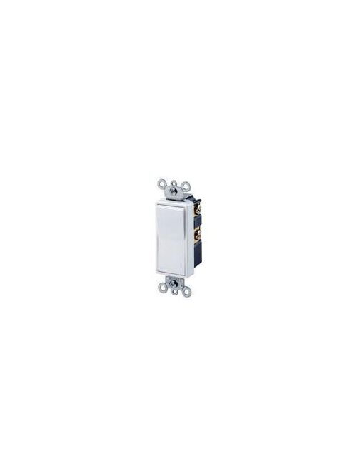 Leviton 5604-2GY 120/277 VAC 15 Amp 2 Hp 4-Way Gray Thermoplastic Grounding Rocker Decorator Quiet Switch