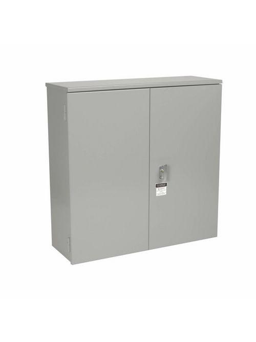 B-Line Series 484814DDHRTCT 48 x 14 x 48 Inch Galvanized 12 Gauge Gray Steel NEMA 3R Hinged Cover Current Transformer Cabinet