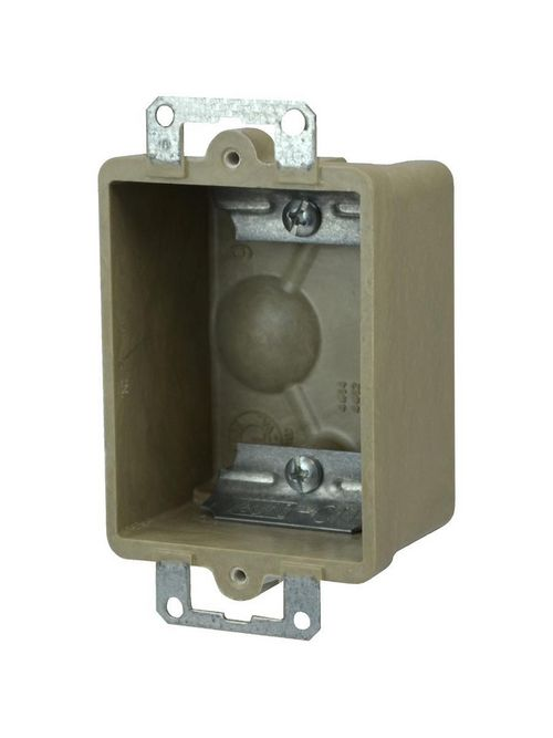 Allied Moulded Products 9301-E 1-3/4 x 2-3/8 x 3-3/4 Inch 9 In 1-Gang Switch/Receptacle Outlet Box
