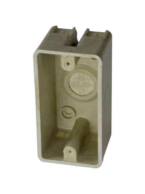 Allied Moulded Products 9318 2 x 2-3/16 x 4-3/16 Inch 12.8 In Fiberglass Surface Mount Switch/Receptacle Outlet Box
