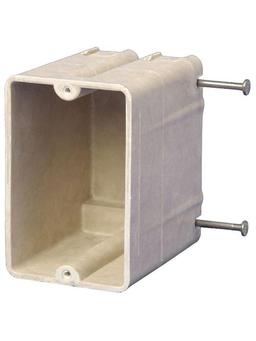 Allied Moulded Products 9327-N 3-1/4 x 2-3/8 x 3-1/4 Inch 20.5 In 1-Gang Switch/Receptacle Outlet Box