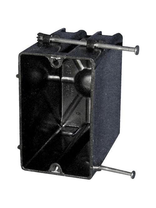 Allied Moulded Products P-241QT 3-9/16 x 2-1/4 x 3-3/4 Inch 24 In 1-Gang Angled Mid-Nail Switch/Receptacle Outlet Box