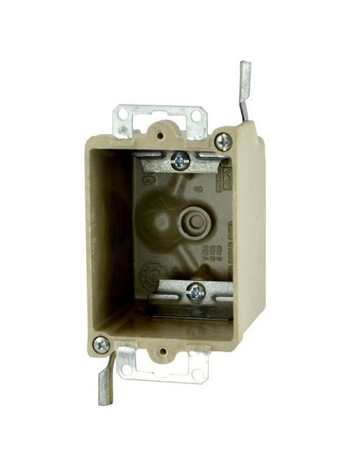 Allied Moulded Products 9331-EWC2 2-1/2 x 2-3/8 Inch 3-1/4 Inch 14 In 1-Gang Fiberglass Switch/Receptacle Outlet Box