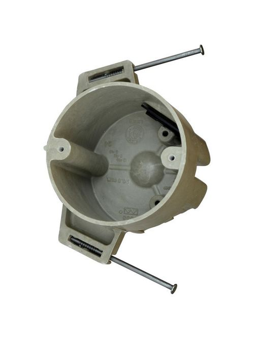 Allied Moulded Products 9335-NK 2-7/8 x 3-1/2 Inch 20.5 In Fiberglass Round Ceiling Fixture Outlet Box
