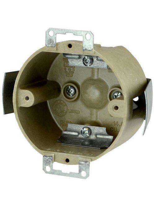 Allied Moulded Products 9338-ESC2 2 x 3-1/2 Inch 14 In Fiberglass Round Fixture Outlet Box