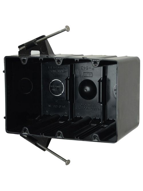 Allied Moulded Products P-643QT 3-9/16 x 5-13/16 x 3-3/4 Inch 64 In 3-Gang Polycarbonate Switch/Receptacle Outlet Box