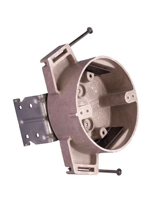 Allied Moulded Products 9365-NKFR 1-5/8 x 4 Inch 15 In Fiberglass Round Ceiling Fan/Fixture Outlet Box