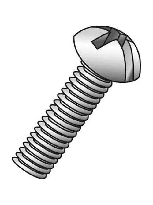Minerallac 53012J 1/4-20 x 3/4 Inch Zinc Plated Steel Combination Slotted/Phillips Drive Round Head Machine Screw