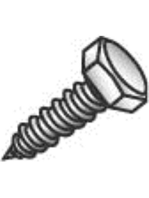 Minerallac 57464J 3/8 x 4 Inch Zinc Plated Steel Hex Head Lag Screw