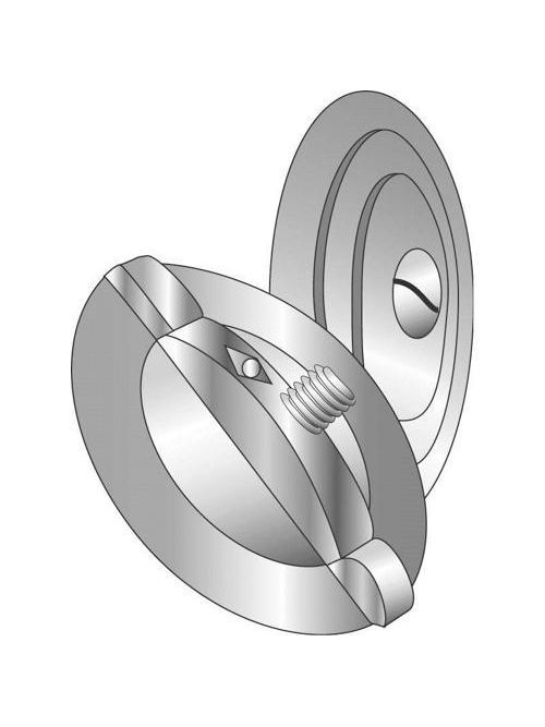 Minerallac 90052 3/4 Inch 3-Piece Zinc Plated Steel Knockout Seal