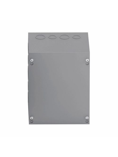 B-Line Series 886 SC 8 x 6 x 8 Inch 16 Gauge Painted Steel NEMA 1 Screw Cover Junction Box Enclosure with Knockout