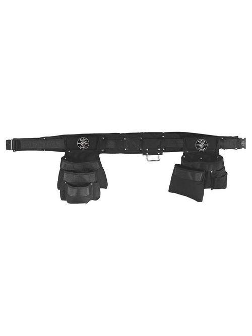Klein Tools 5709M 4-Piece 2 Inch Belt Medium Hammer Holder/Tool Belt/Pouch Combo Set