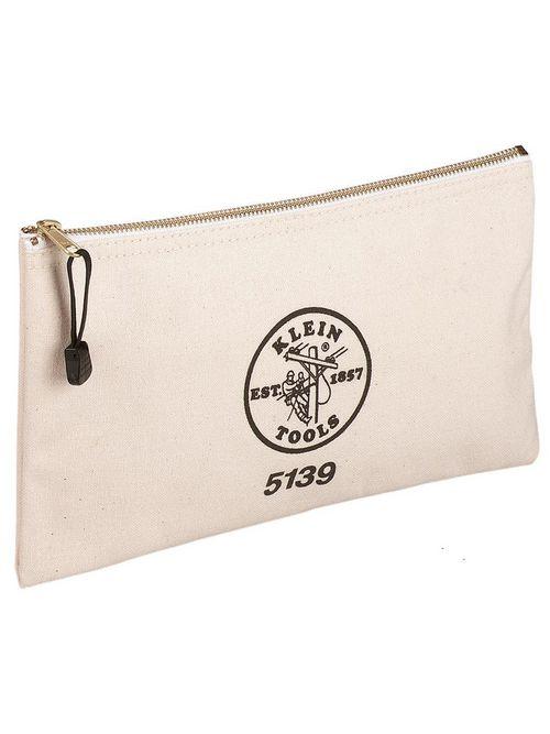 Klein 5139 12-1/2 x 7 Inch Canvas Zipper Tool Bag