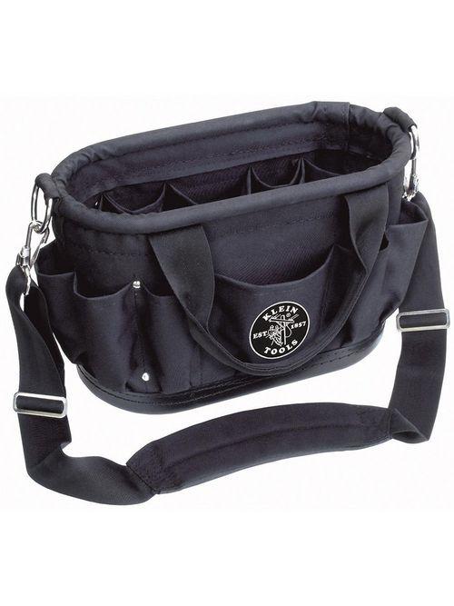 Klein Tools 58888 15-1/2 x 7-1/2 x 10 Inch Polyester 12-Pocket Tool Bag Shoulder Strap
