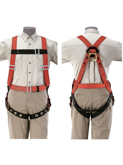 Klein 87022 Friction Style Buckle Nylon Webbed Extra Large Fall Arrest Harness