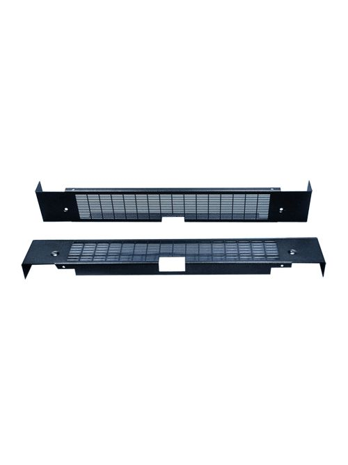Hoffman PPBCV1600 Vented Single Bay 100 x 600 mm Black Polyester Powder Painted Plinth Base Cover
