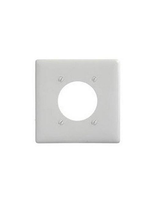 "Mulberry 86222 2.125"" 30/50 Amp 3-Wire 2-Gang White Semi Gloss Steel Range/Dryer Receptacle Wallplate"
