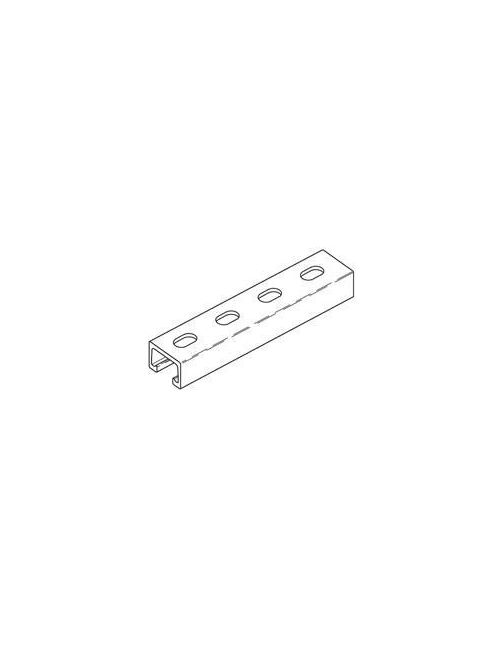 B-Line Series Bfv42Sh-120 120 x 1 x 1-5/8 Inch Beige Vinyl Ester Resin Slots In Back Fiberglass Slot Channel