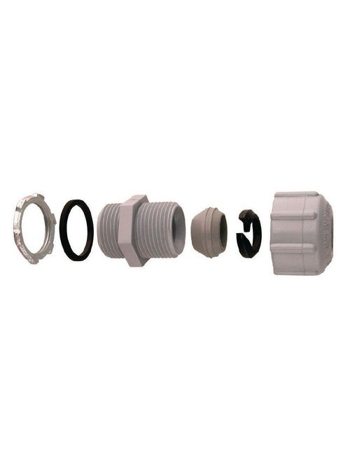 IPEX 077756 3/4 Inch PVC Non-Metallic Threaded Rigid Conduit Strain Relief Connector