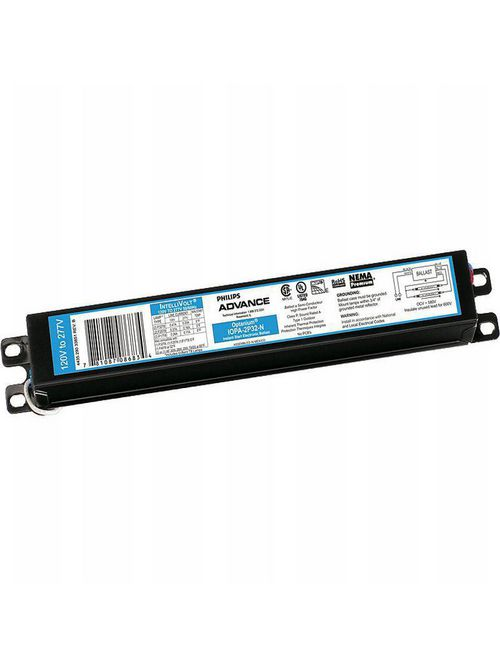 Philips Advance IOPA2P32N35M 120 to 277 VAC 50/60 Hz 32 W 2-Lamp T8 Electronic Ballast