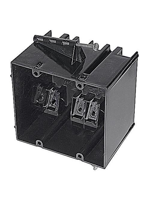 Carlon 234-N 2-Gang 4 Inch Width 34 In Non-Metallic Nail-On Switchbox with Clamp