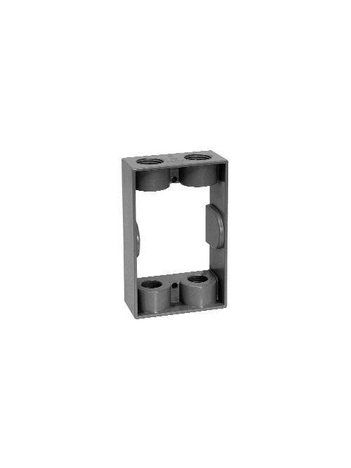 TayMac SE450S 9.5 In Gray Die-Cast Aluminum Weatherproof Extension Adapter