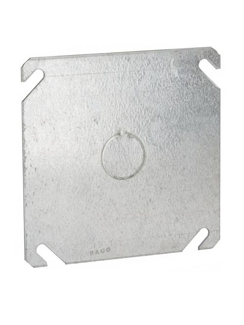 Raco 753 4 Inch Steel Flat Square Box Cover