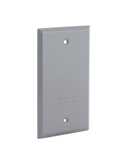 Raco 5173-0 Steel Gray 1-Gang Blank Box Weatherproof Outlet Cover with Gasket
