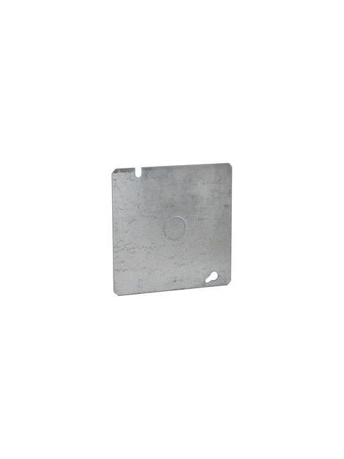 Raco 833 4-11/16 Inch Steel Flat Square Box Cover