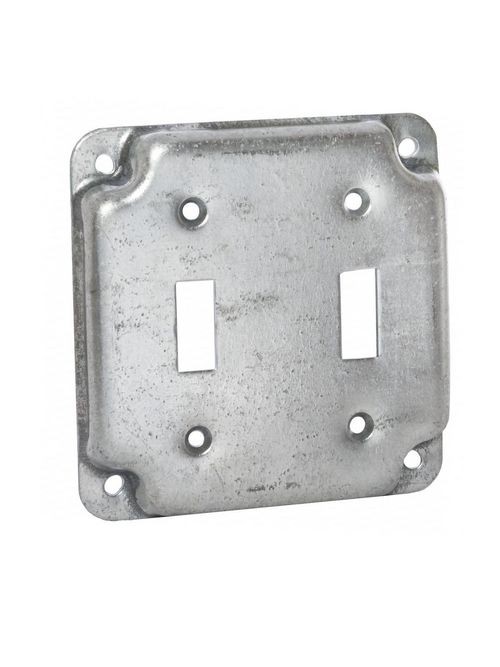 Raco 803C 4 Inch 1/2 Inch Raised 5.5 In Steel Square Surface Cover