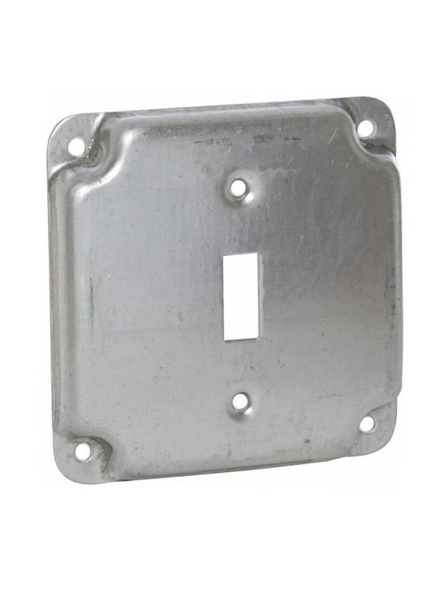 Raco 800C 4 Inch 1/2 Inch Raised 5.5 In Steel Square Surface Cover