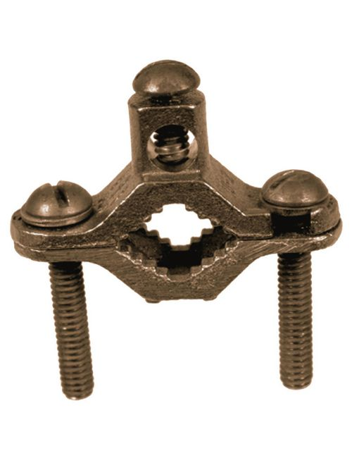 """CULLY 95154 1/2"""" - 1"""" Bronze GroundClamp, Direct Burial"""