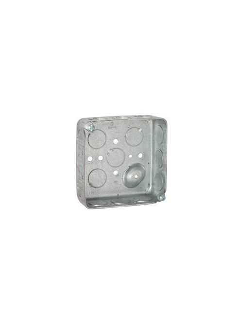 Raco 190 4 x 4 x 1-1/2 Inch 21 In Steel Drawn Square Outlet Box