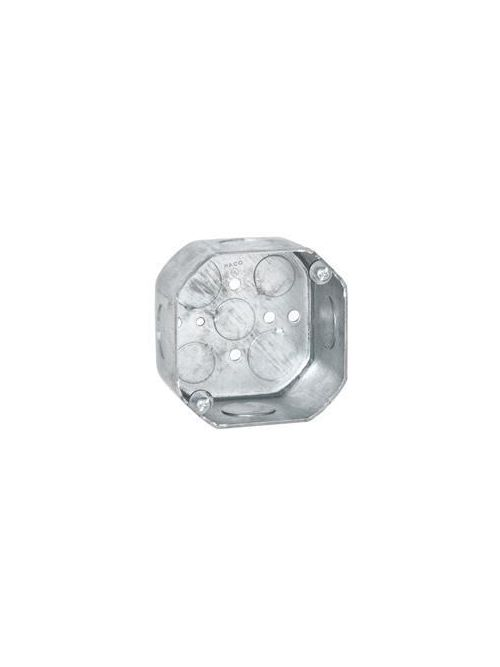 RACO 166 4 x 4 x 2-1/8 Inch 21.5 In Pre-Galvanized Steel Drawn Octagon Box